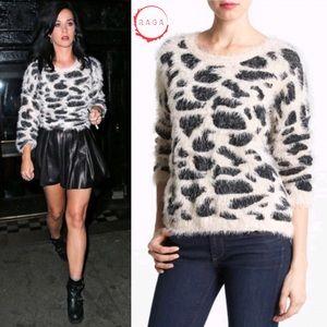 RAGA Animal Spotted Pattern Fuzzy Sweater